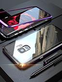 halpa Puhelimen kuoret-Etui Käyttötarkoitus Samsung Galaxy S9 / S9 Plus / S8 Plus Läpinäkyvä / Magneetti Suojakuori Yhtenäinen Kova Karkaistu lasi
