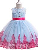 رخيصةأون فساتين البنات-فستان طول الركبة بدون كم بقع رياضي Active / أناقة الشارع للفتيات أطفال