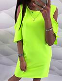 abordables Vestidos de Mujer-Mujer Vaina Vestido Un Color Sobre la rodilla
