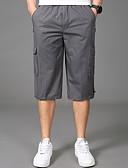 hesapli Erkek Pantolonları ve Şortları-Erkek Temel Büyük Bedenler İnce Şortlar Pantolon - Solid Koyu Gri Ordu Yeşili Açık Gri XXXXL XXXXXL XXXXXXL