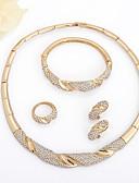 levne Bikini a plavky-Dámské Bílá drobný diamant Kotníkové náramky Náušnice - Kruhy Náhrdelník Geometrické Fáze Měsíce U tvar Smát se Přizpůsobeno Jednoduchý Klasické Evropský Afrika Pozlaceno 18k Zlaté Umělé diamanty