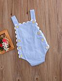 זול אוברולים טריים לתינוקות-מקשה אחת One-pieces כותנה ללא שרוולים פסים פעיל / בסיסי בנות תִינוֹק / פעוטות