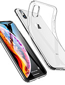 abordables Coques d'iPhone-Coque Pour Apple iPhone XS / iPhone XR / iPhone XS Max Antichoc / Ultrafine / Transparente Coque Couleur Pleine Flexible TPU