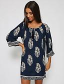 hesapli Kadın Elbiseleri-Kadın's Pamuklu Salaş A Şekilli Elbise Diz üstü