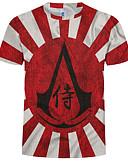 abordables Sudaderas de Hombre-Hombre Tallas Grandes Estampado - Algodón Camiseta, Escote Redondo 3D / Gráfico Rojo XXXXL
