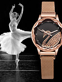 זול שעונים קוורץ-בגדי ריקוד נשים קווארץ קלסי אופנתי זהב ורד מתכת אל חלד Chinese קווארץ חום לבן שחור עמיד במים יצירתי שעונים יום יומיים 30 m יחידה 1 אנלוגי שנה אחת חיי סוללה