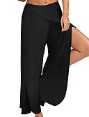 tanie Suknie balowe-Damskie Spodnie do jogi Sport Jednokolorowe Bawełna Doły Bieganie Fitness Odzież sportowa Lekki Oddychający Szybkie wysychanie Średnio elastyczny Luźna