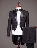 povoljno Smokinzi-Tuxedos Standardni kroj Šiljasti No Button Najlon Jednobojni