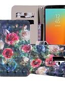 halpa Puhelimen kuoret-Etui Käyttötarkoitus Samsung Galaxy J8 (2018) / J7 (2017) / J7 (2018) Lomapkko / Korttikotelo / Tuella Suojakuori Kukka Kova PU-nahka