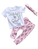 זול סטים של ביגוד לתינוקות-סט של בגדים כותנה שרוולים קצרים דפוס דפוס יום יומי / פעיל בנות תִינוֹק / פעוטות