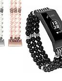 זול להקות Smartwatch-צפו בנד ל Fitbit Charge 2 / Fitbit Charge 3 / Fitbit השראה פיטביט עיצוב תכשיטים קרמי רצועת יד לספורט