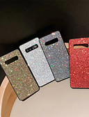 cheap Cellphone Case-Case For Samsung Galaxy Galaxy S10 Plus / Galaxy S10 E Rhinestone Back Cover Solid Colored Soft TPU for S9 / S9 Plus / S8 Plus