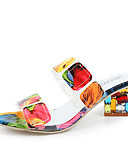 halpa Yksiosaiset uima-asut-Naisten PU Kevät kesä minimalismi Sandaalit Paksu korko Pyöreä kärkinen Sateenkaari