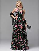 preiswerte Abendkleider-A-Linie Schmuck Boden-Länge Tüll Abiball / Formeller Abend Kleid mit Stickerei / Muster / Druck durch TS Couture®