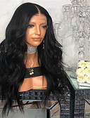 cheap Prom Dresses-Human Hair Lace Wig kinky Straight Style Middle Part Lace Front Wig Dark Brown Natural Black Synthetic Hair 26 inch Women's Women Dark Brown Wig Long Natural Wigs