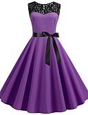 povoljno Ženske haljine-Žene Vintage Korice Haljina - Kolaž, Jednobojni Do koljena