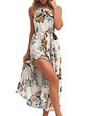 levne Print Dresses-Dámské Základní Shift Šaty - Květinový Maxi