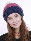 povoljno Ženski šeširi-Žene Color block Aktivan Slatka Style Akril-Šešir širokog oboda Jesen Zima žuta Fuksija Lila-roza