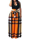 povoljno Bluza-Žene Veći konfekcijski brojevi Ljuljačka Maxi Suknje - Geometrijski oblici