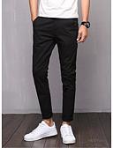 abordables Pantalones y Shorts de Hombre-Hombre Básico Delgado Chinos Pantalones - Un Color Algodón Azul claro Caqui Azul Real 34 36 38