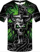 povoljno Muške majice i potkošulje-Veći konfekcijski brojevi Majica s rukavima Muškarci 3D Okrugli izrez Print Duga XL