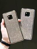 זול מגנים לטלפון-מגן עבור Huawei Huawei P20 / Huawei P20 Pro / Huawei Mate 20 pro ריינסטון כיסוי אחורי אחיד רך TPU