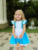 povoljno Haljine za djevojčice-Djeca Dijete koje je tek prohodalo Djevojčice Vintage slatko Kolaž Kratkih rukava Do koljena Haljina Plava