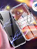 Недорогие Чехлы для телефонов-Кейс для Назначение SSamsung Galaxy Galaxy A7(2018) / Galaxy A30 (2019) / Galaxy A50 (2019) Магнитный Кейс на заднюю панель Однотонный Твердый Закаленное стекло