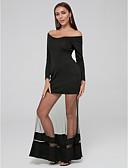 preiswerte Kleider für besondere Anlässe-A-Linie V-Ausschnitt Boden-Länge Tüll / Jersey Formeller Abend Kleid mit durch TS Couture®