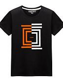 preiswerte Herren T-Shirts & Tank Tops-Herrn Grafik Übergrössen T-shirt, Rundhalsausschnitt Druck Weiß XXXL