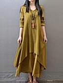 povoljno Ženske haljine-Žene Swing kroj Haljina V izrez Maxi