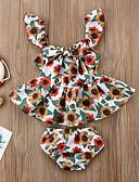 billige De flotteste sparkedragter-Baby Pige Aktiv / Basale Trykt mønster Trykt mønster Uden ærmer Normal Normal Bomuld Tøjsæt Regnbue