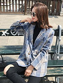 halpa Jackets-Naisten Bleiseri Lovikäänne Polyesteri Uima-allas M / L / XL