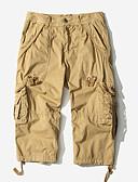 levne Pánské kalhoty a kraťasy-Pánské Základní Větší velikosti Kalhoty chinos Kalhoty - Jednobarevné Armádní zelená Khaki Světle šedá 34 36 38