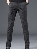 abordables Pantalones y Shorts de Hombre-Hombre Básico Delgado Chinos Pantalones - Un Color Azul Piscina Negro 34 36 38
