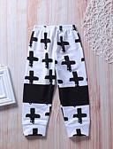 abordables Sets de Vêtements pour Garçon Bébés-bébé Garçon Actif / Basique Géométrique / Galaxie Croisé / Imprimé Coton Pantalons Blanc / Bébé