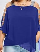 hesapli Gömlek-Kadın's Askılı İnce - Bluz Solid Gül kurusu Doğal Pembe