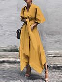 זול שמלות מקרית-א-סימטרי אחיד - שמלה נדן בגדי ריקוד נשים