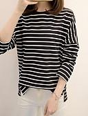 abordables Robes Femme-Tee-shirt Femme, Rayé Noir L
