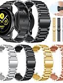 זול להקות Smartwatch-צפו בנד ל Samsung Galaxy פעיל Samsung Galaxy רצועת ספורט מתכת / מתכת אל חלד רצועת יד לספורט