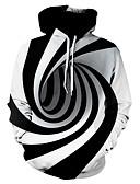 povoljno Muške majice s kapuljačom i trenirke-Muškarci Ležerne prilike / Osnovni Hoodie Prugasti uzorak / Geometrijski oblici / 3D