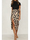 billige Nederdele-Dame Boheme / Sofistikerede Bodycon Nederdele Leopard Trykt mønster / Tynd