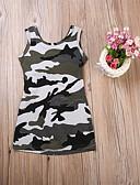 זול סטים של ביגוד לתינוקות-שמלה כותנה ללא שרוולים דפוס פעיל / בסיסי בנות תִינוֹק / פעוטות