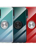 זול מגנים לטלפון-מגן עבור Huawei Huawei P20 / Huawei P20 Pro / Huawei P20 lite עם מעמד / מחזיק טבעת / שקוף כיסוי אחורי אחיד רך TPU / מתכת