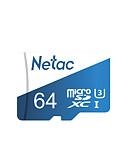 זול מגן מסך נייד-Netac מיקרו כרטיס SD 64gb 128GB 256GB מחלקה 10 uhs 1 u3 v30 כרטיס זיכרון 64 128 gb flash microsd p500 Pro tf כרטיס עבור smartphone