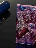 זול מגנים לטלפון-מגן עבור Samsung Galaxy Galaxy A7(2018) / Galaxy A9 (2018) / Galaxy A10 (2019) ארנק / מחזיק כרטיסים / עם מעמד כיסוי מלא פרפר קשיח עור PU