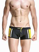 זול טישרטים לגופיות לגברים-שחור M L XL קולור בלוק, בגדי ים חלקים תחתונים רגלו של הילד מכנסי שחייה שחור אודם כחול נייבי ספורטיבי בסיסי בגדי ריקוד גברים