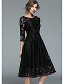 זול שמלות שושבינה-גזרת A עם תכשיטים באורך  הברך תחרה מסיבת קוקטייל שמלה עם תחרה משולבת על ידי LAN TING Express