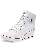 povoljno Haljine za djevojčice-Žene Sneakers Udobne cipele Wedge Heel Okrugli Toe Platno Ležerne prilike / minimalizam Proljeće ljeto Crvena / Plava / Pink