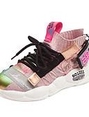 זול שמלות NYE-בנות PU / Flyknit נעלי אתלטיקה ילדים / מתבגר נוחות לבן / שחור / ורוד בהיר קיץ / סתיו